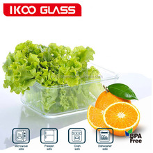 container home rectangle high borosilicate glass food container for fruit and vegetables
