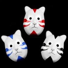 naruto máscara de gato de dibujos animados de plástico partido máscaras