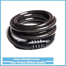 Bike Bicycle 4 Digital Code Password Combination Lock Cable TY532 1200mm MBI-08