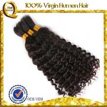 good factory natural hair pieces 100% fish wire hair extension