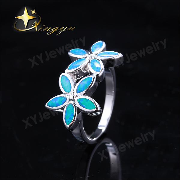 2015 Moda coração prata anel opala, casamento presente opala festa prata mulher anel, novo elegante opala anel XYR300301