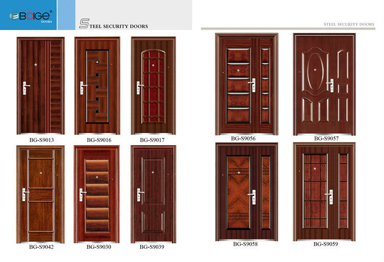 Bg s9057 main entrance single door designs buy main for Single main door designs