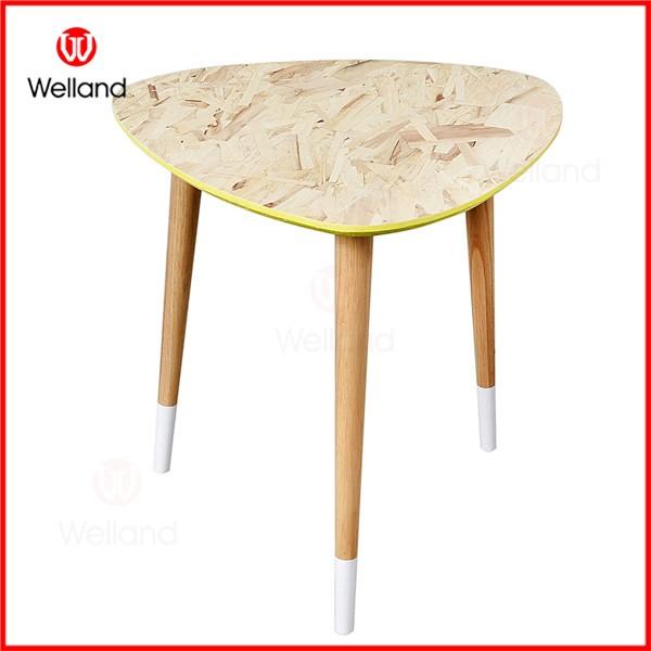 간단한 현대 세련된 유리 나무 라운드 커피 테이블 할 엔드 ...