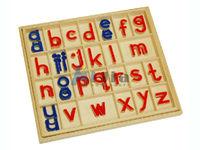 montessori equipment -Small Movable Alphabet Victorian School Font montessori teaching materials toy