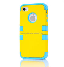 2015 new arrival 3 in1 silicon +PC fashion case for Iphone5 5S perfect protective case