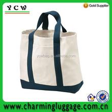 Natural/ black canvas Shopping Tote Bag