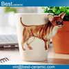Painting Ceramic coffee Cup, Chihuahua Style