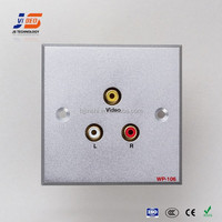 JS-WP106 Office Aluminum face plate with audio & video in 86*86mm