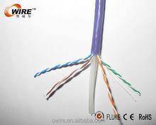 Offer CE,ROHS certificate 305m pure copper Cat5e utp network cable