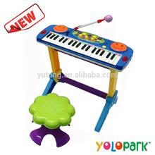Caliente venta de intelecto juguetes electrónicos de órganos para los niños, teclas grandes para el uso& gran sonido