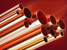 China manufactured seamless copper water tube / pipe