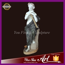 carved stone figure marble statue of beautiful girl