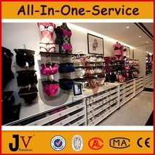 Venta al por mayor al por menor tienda de ropa interior de diseño de la tienda con la parte superior de grado