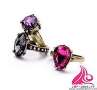 Newest Luxury Bling Bling Multi Shape And Color Brand Fashion Diamond Ring