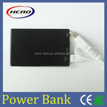 Slim Credit Card Power Bank with USB Memory