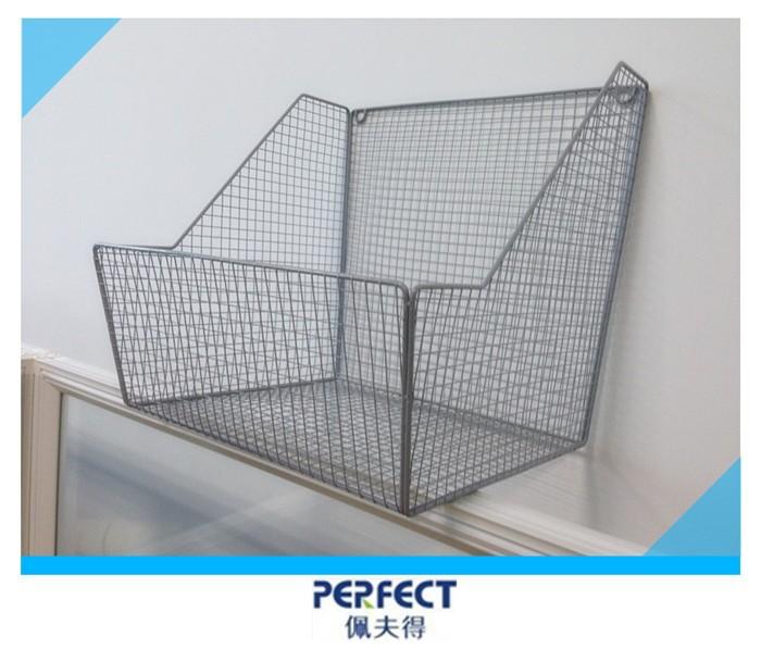 Wall Mount Flower Basket : Wall mounted metal wire storage basket flower pot shelf