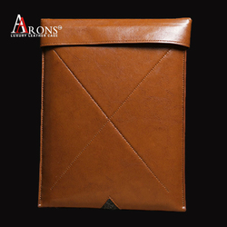 MENS Genuine leather sleeve case cell phone pouch for ipad air 2