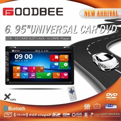 Double Universal 7 inch + Corrola car DVD + bluetooth GPS + TV