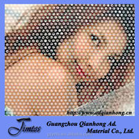 advertising pvc one way vision window screen/ printable tarpaulin for advertising