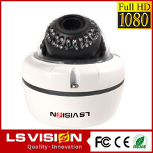 LS VISION motorized zoom and focus lens IK10 2mp ip dome camera