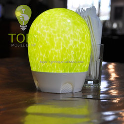 Cordless Rechargeable LED Lamp handblown glass mobile lamp table lamp camp lamp hotel restaurant bar pub