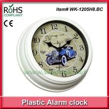 Hot sales plastic design alarm clock /2015 Fashionable promotional gift