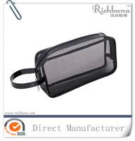 factory wholesale nylon mesh cosmetic bag for shopping and promotion
