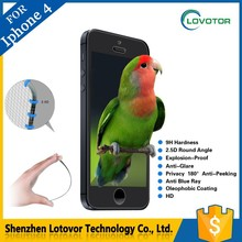 Top-quality Anti Shock screen protective film / 9H tempered glass screen protector for IPhone 4 / 4s
