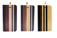 wood bamboo flip case for iphone 5 mixed wood cover