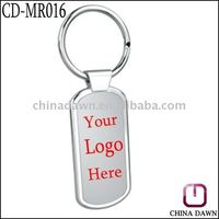 Alloy blank metal keyring with customized logo printing CD-KR016