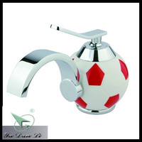 red color brass football design kids wash basin faucet 5984A1