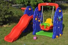 Hot sale plastic swing and slide set