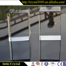 wholesale engraving crystal blank 3d laser cube Crystal 3D carved Decoration Craftwork Accessories