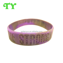 new hot factory wholesale swirl & debossed silicone wristband for 2015