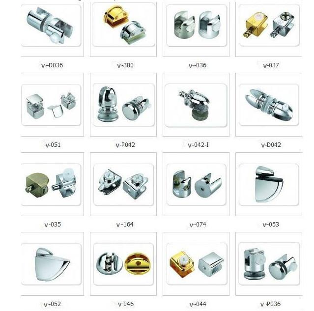Hardware Glass Shelf Clips Shower Door Clip Chrome Glass Clamp Buy
