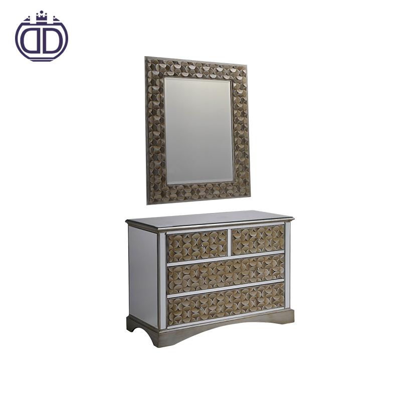 2018 alibaba благородный антикварный туалетный столик макияж зеркальный комод