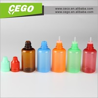 china manufacturer Factory 100%5ml,10ml,30ml PET clear plastic dropper bottle with child proof cap for ego oil, e-liquid, e-cig