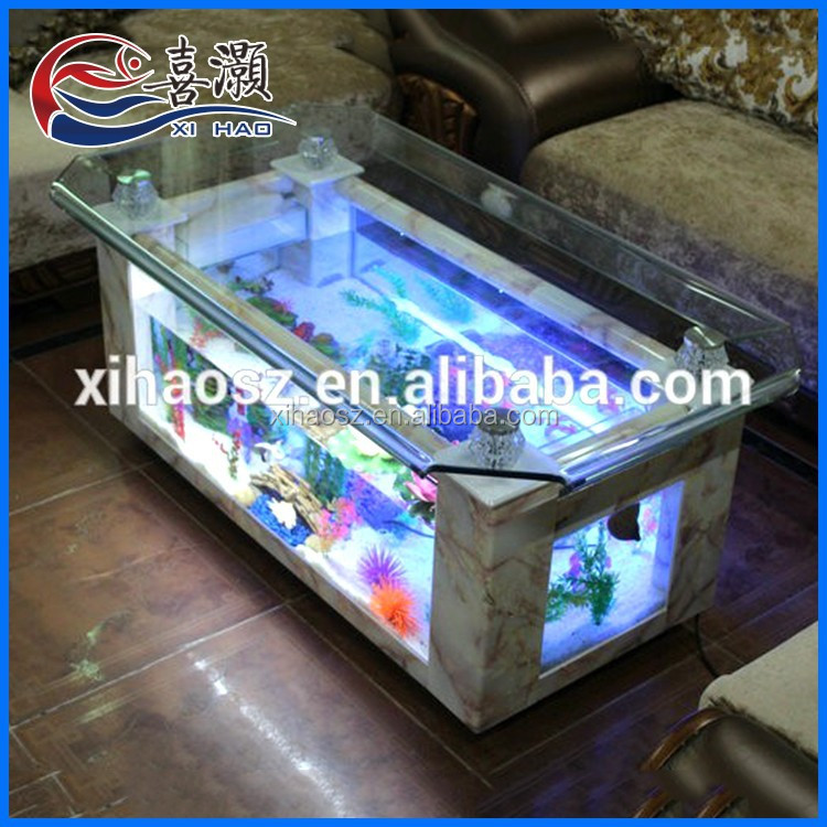 Hot selling modern fish glass aluminum alloy aquarium coffee table buy aquarium coffee table - Fish tank coffee table cheap ...