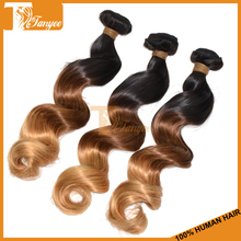 Hot Selling 6A Peruvian Ombre Loose Wave Hair Extension Remy Guangzhou Supplier 1b 4 27 Ombre Hair Loose Wave Hair Weft