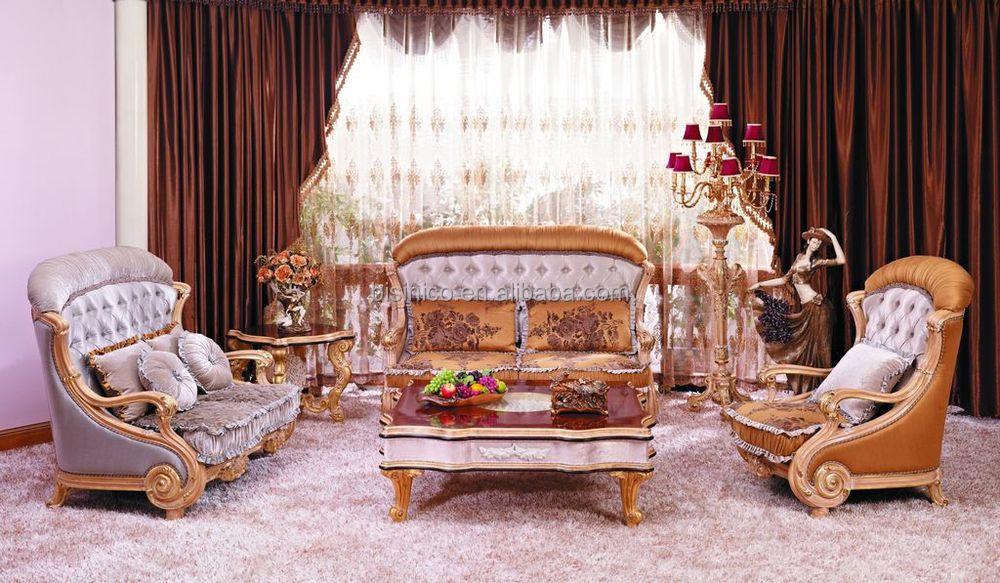 Luxe europese victoriaanse stijl woonkamer bankstel beige/fancy ...