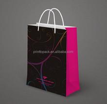 2015 fashion paper bag, kraft paper bag OEM service
