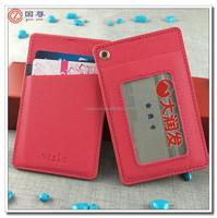 Custom Hard ID Name Card Holder/Fashion pu leather id card holder/vertical badge holder wholesale