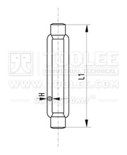 6306-Rigging Turnbuckle DIN1480 Body Only