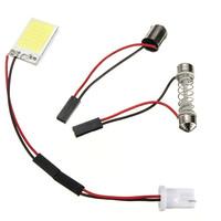 Brand New T10 18 LED COB Chip White Car Auto Light Panel Interior Reading Map Lamp Bulb BA9S Festoon Dome 3 Adapters DC12V