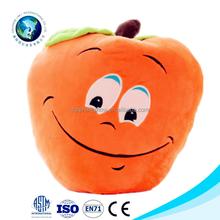 En71 orange plush toy apple stuffed soft plush emoji cushion cute cheap plush emoji pillow