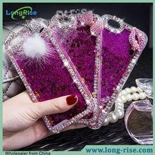 Bling Bling 3D Glitter Liquid Diamond-studded Mobile Phone Case for iPhone 6