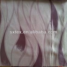 100%Polyester Wave-like Leaf Design Fleece Base Blackout Jacquard Curtain Fabric
