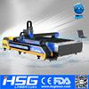 500W HSG Fiber Metal Tube Laser Cutting Machine for Furniture Industry HS-M3015B