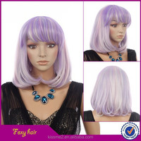2015 New fashion style customizable synthetic wig