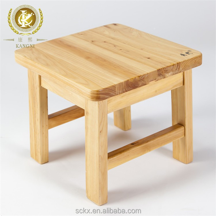 Chinese Made Small Handmade Wooden Foot Stool For Kids